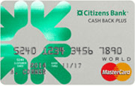 Citizens Bank Cash Back Plus World MasterCard review