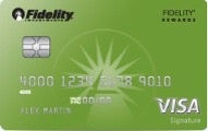 Fidelity Rewards Visa Signature card review