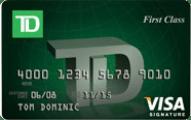 TD First Class Visa Signature credit card review