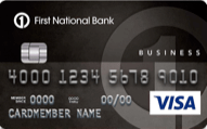 First National Bank Business Edition Visa card with Business Category Rewards review
