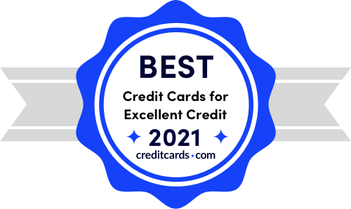 best credit cards for excellent credit of 2021